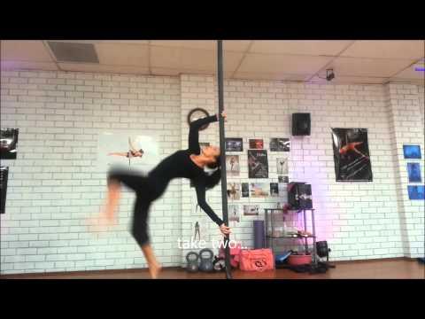 Lisa aka Chastity Crazy Chinese Pole Tricks/Flips