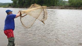 Рыбалка кастинговой сетью.Супер улов ч.1