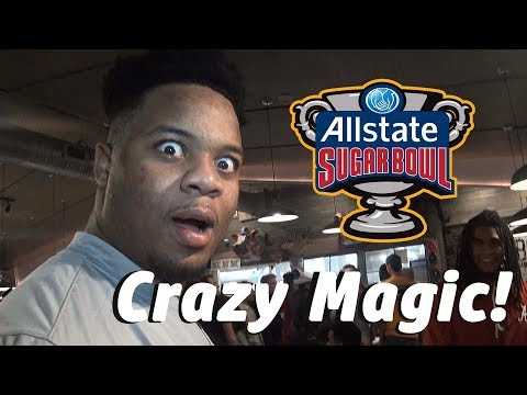 Magician Dako Albeik Performs For Alabama and Clemson At the 2018 Sugar Bowl Player Party