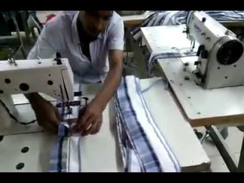 One operator maintain two textile sewing machine at a time