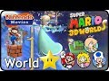 Super Mario 3D World - World Star 100% Multiplayer Walkthrough