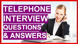Download lagu TELEPHONE INTERVIEW Questions & Answers! How To PASS a Phone Interview!