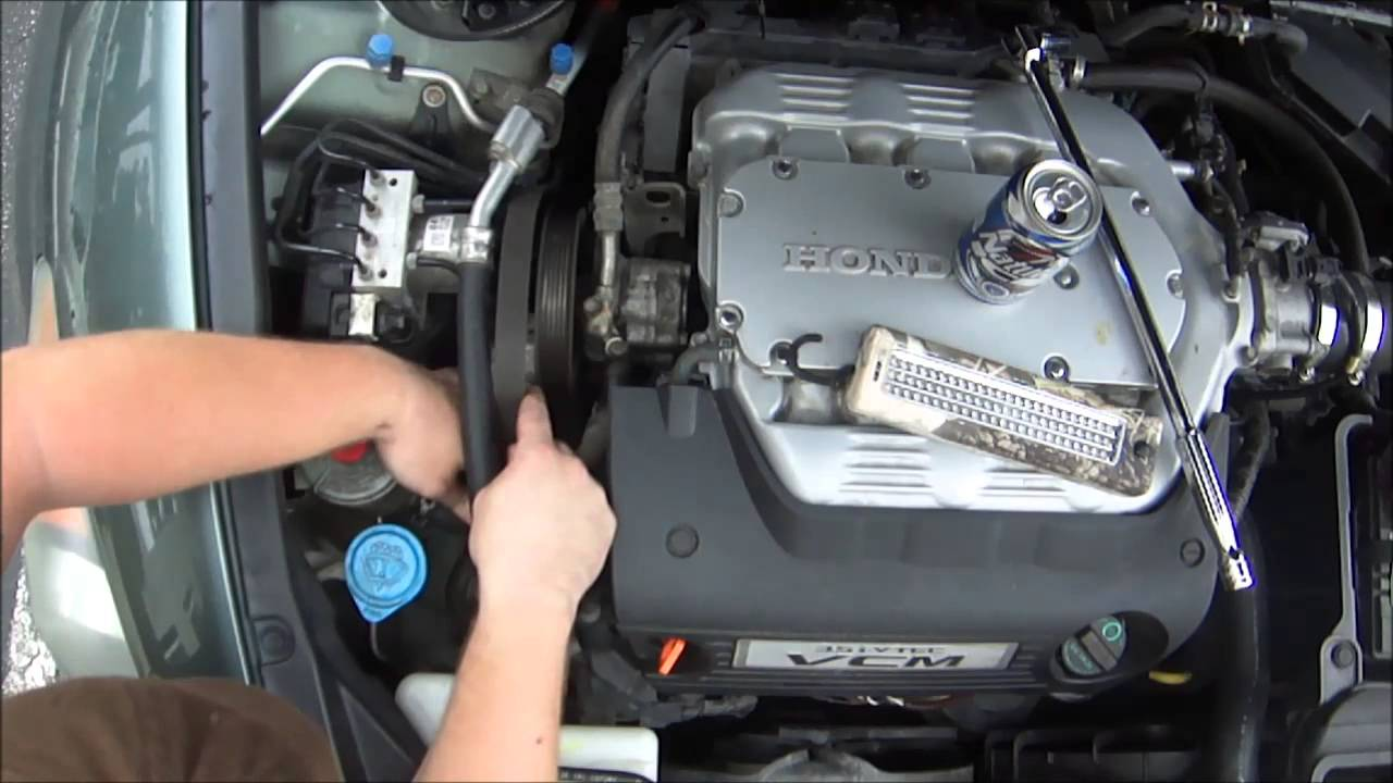2008 8th gen honda accord diy how to replace your serpentine belt youtube [ 1280 x 720 Pixel ]