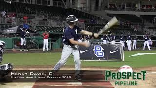 Henry Davis prospect video, C, Fox Lane High School Class of 2018