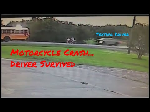 Texting Driver Slams Into Motorcyclist - Lafayette, Louisiana