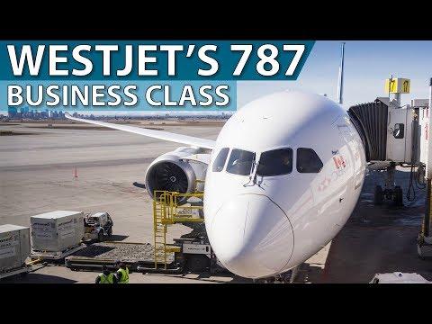 WestJet's Brand New 787 Business Class   Calgary To Toronto