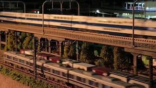 Nゲージ 鉄道模型 自宅レイアウト 新幹線走行動画  100系グランドひかり・300系のぞみ