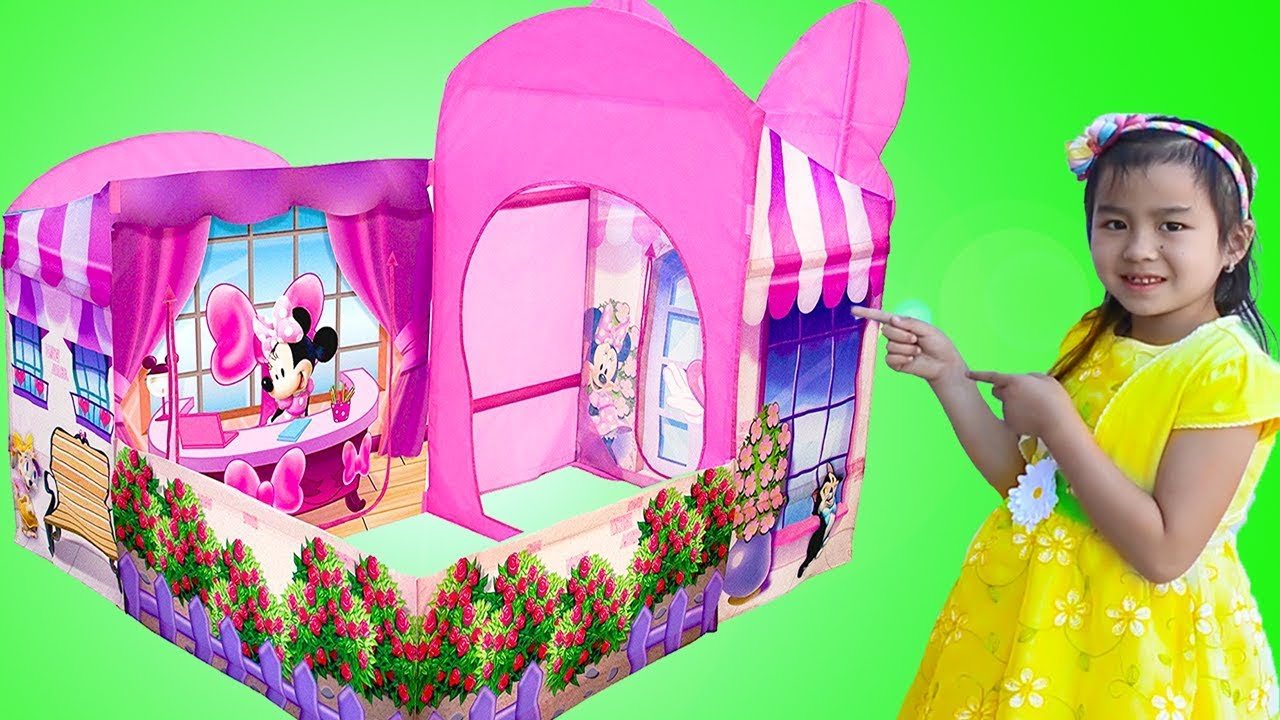 new style 1f856 d731f Jannie Pretend Play w/ Minnie Mouse Garden Playhouse Tent Toy