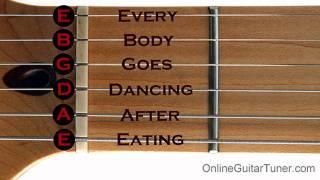 Online Guitar Tuner (Standard) Guitar Tuning