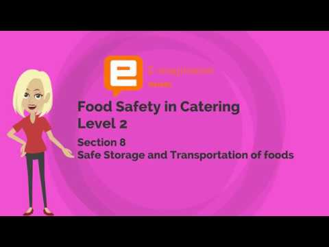 Food Safety in Catering Section 8 Unit 3 The Delivery of Foods