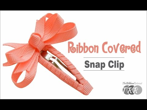 How To Make A Ribbon Covered Snap Clip - TheRibbonRetreat.com