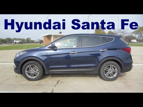 2017 hyundai santa fe sport 2 4 l awd rental car review and test drive youtube. Black Bedroom Furniture Sets. Home Design Ideas