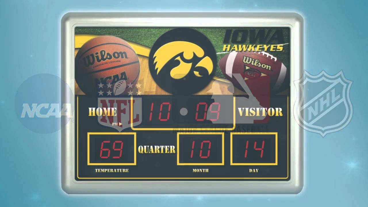Licensed Sports Scoreboard Clocks by Team Sports America YouTube