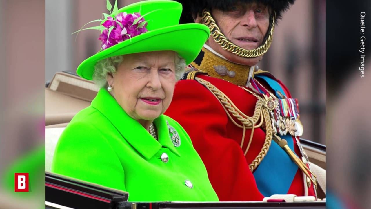 Queen Elizabeth Ii Keiner Darf Mich Ubersehen In Giftgrun Zum