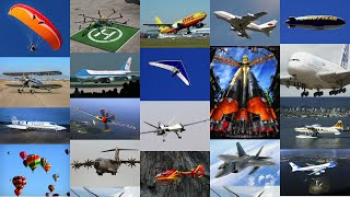 Aircraft - Airplanes / Aeroplanes & Air Vehicles - Kids & Childrens Educational Video