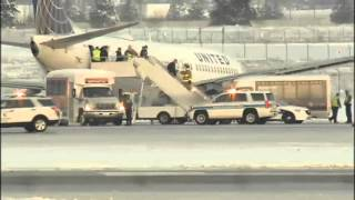 United Airlines jet slides off taxiway at Spokane International