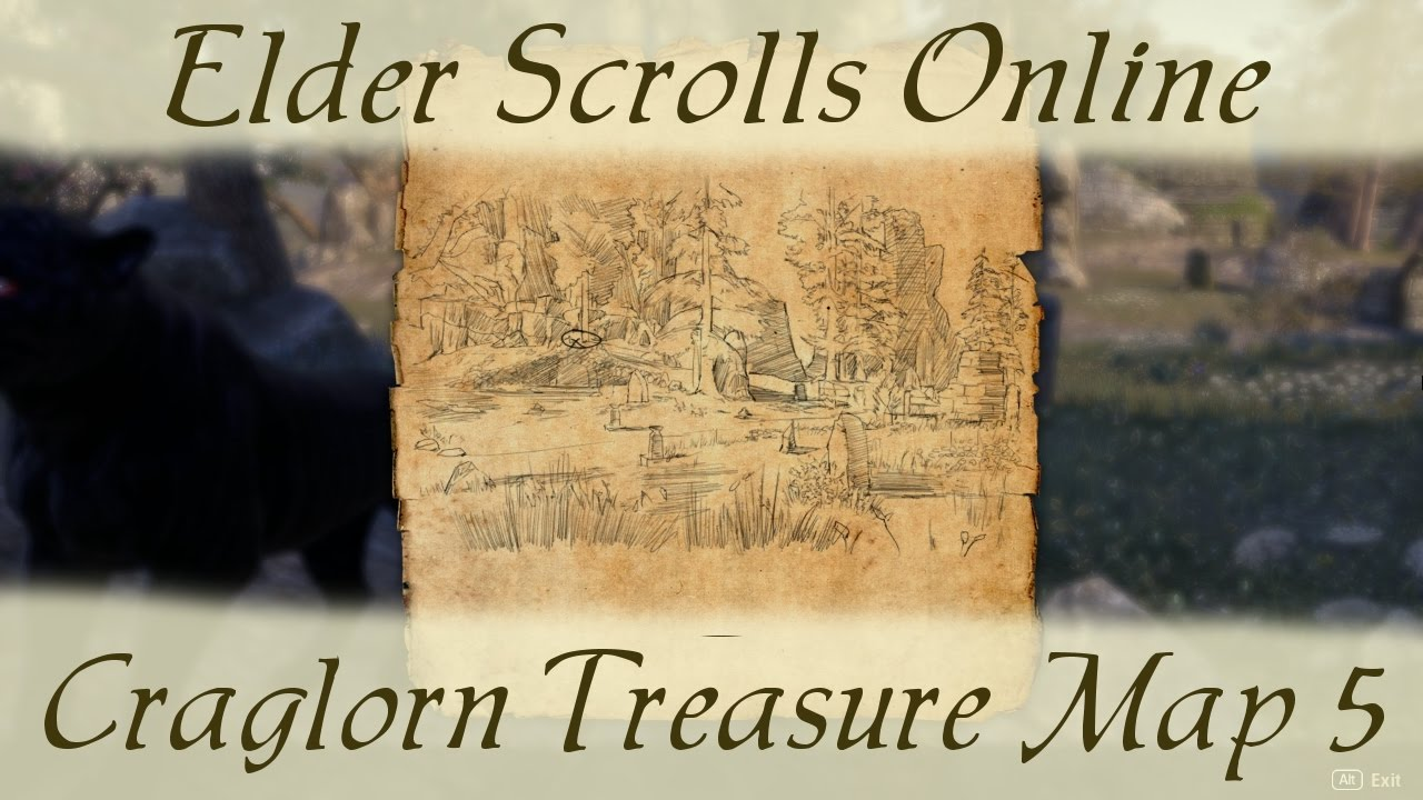 Craglorn Treasure Map 5 [Elder Scrolls Online ESO] v - YouTube