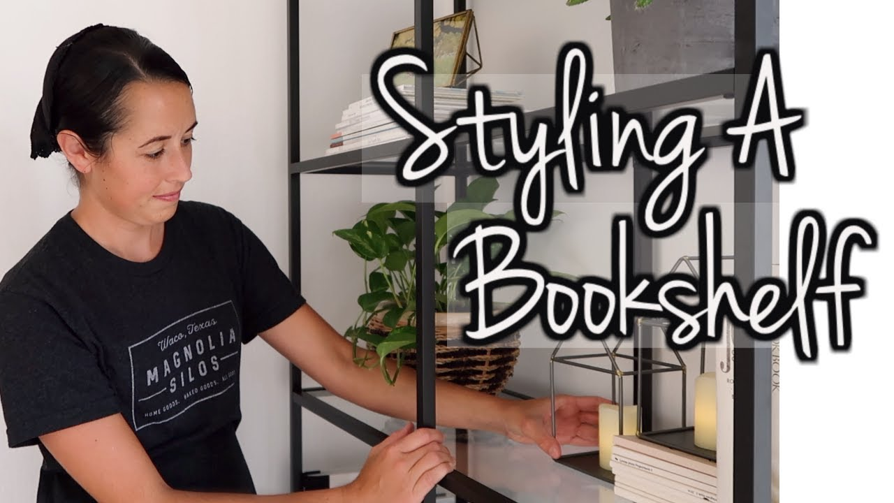 How to Style a Bookshelf | Simple Interior Design Tips | Lynette Yoder