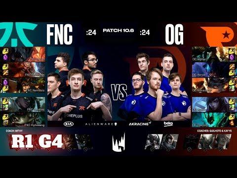 Fnatic Vs Origen - Game 4   Round 1 PlayOffs S10 LEC Spring 2020   FNC Vs OG G4