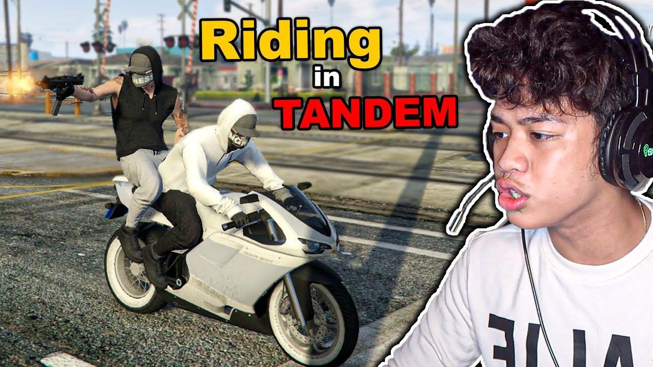 Riding in Tandem MISSION sa GTA 5 ONLINE!! (malupit na misyon)