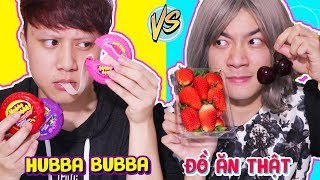 GIA ĐÌNH LỒI RỐN - KẸO HUBBA BUBBA VS ĐỒ ĂN THẬT *Hubba Bubba VS Real Food*