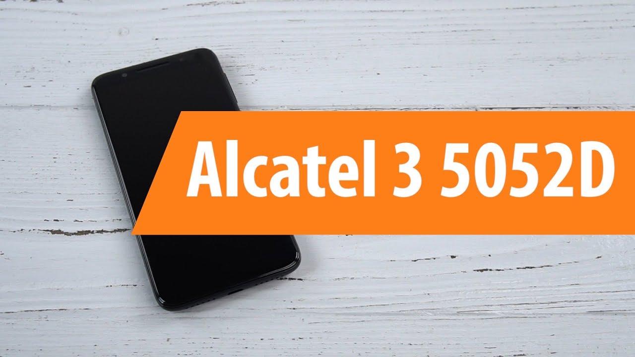 Распаковка смартфона Alcatel 3 5052D / Unboxing Alcatel 3 5052D