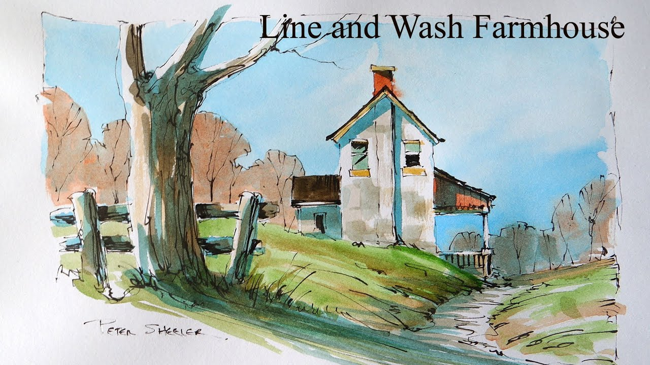 Loosen Up Your Line And Wash Watercolor Techniques Paint