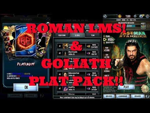 ROMAN LMS & GOLIATH PLAT PACK!!  |  WWE Supercard #101 (Season 4)