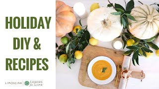 Easy Healthy Soup Recipe for Thanksgiving & DIY Table Setting | Healthy Grocery Girl