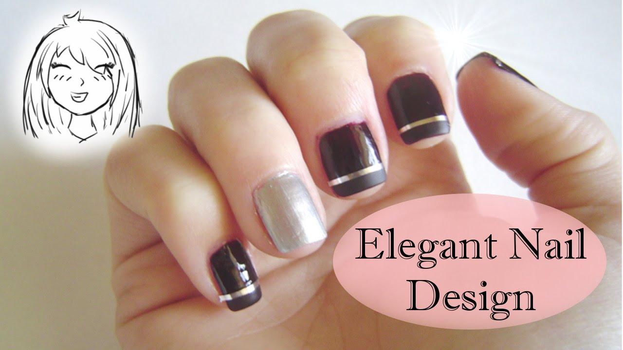 Simple and elegant nail design   Chibi-chan - YouTube