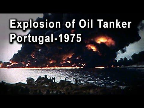 Explosion of Oil Tanker Jakob Maersk-Portugal 1975