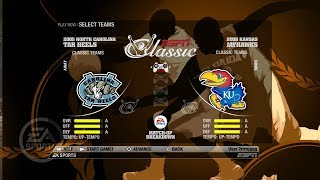 NCAA Basketball 09 (Classic Teams With Player Names) 05 North Carolina vs 08 Kansas