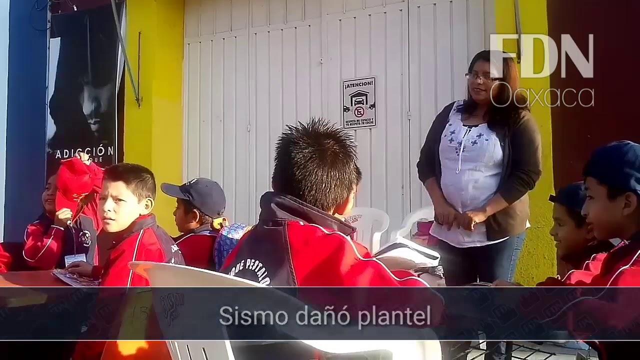 Reanudan clases en la calle por daños a plantel en la ciudad de ...