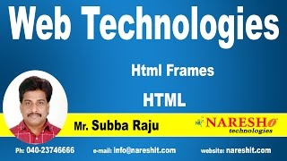 Html Frames | Web Technologies Tutorial | Mr.Subbaraju