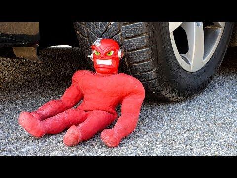 Crushing Crunchy & Soft Things By Car! EXPERIMENT CAR VS STRETCH VAC - MAN (toy)