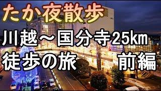 たか夜散歩 川越から国分寺まで25㎞歩きます! 前編