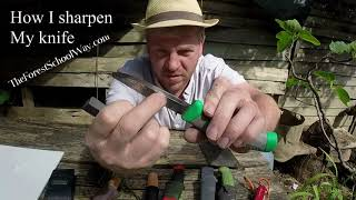 How to sharpen a knife using  portable sharpening kit