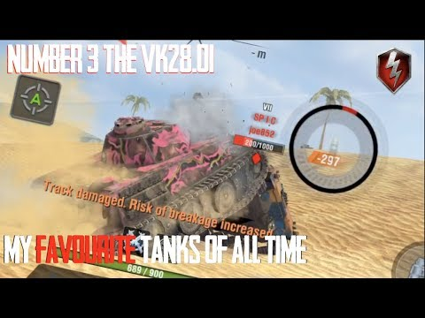 VK28.01 NUMBER 3 : FAVOURITE TANKS OF ALL TIME WORLD OF TANKS BLITZ