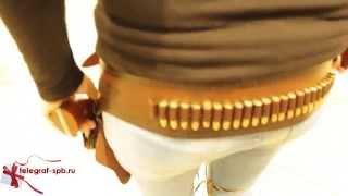 Ковбойский ремень с кобурой(Патронташ - пояс или сумка для ношения боеприпасов с отдельной секцией для каждого патрона. Крепиться на..., 2014-07-24T14:17:02.000Z)