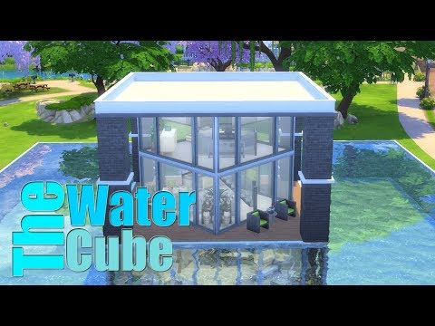 The Sims 4 - The Water Cube | Speed Build | House Building