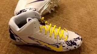 Nike ID custom football cleats for the