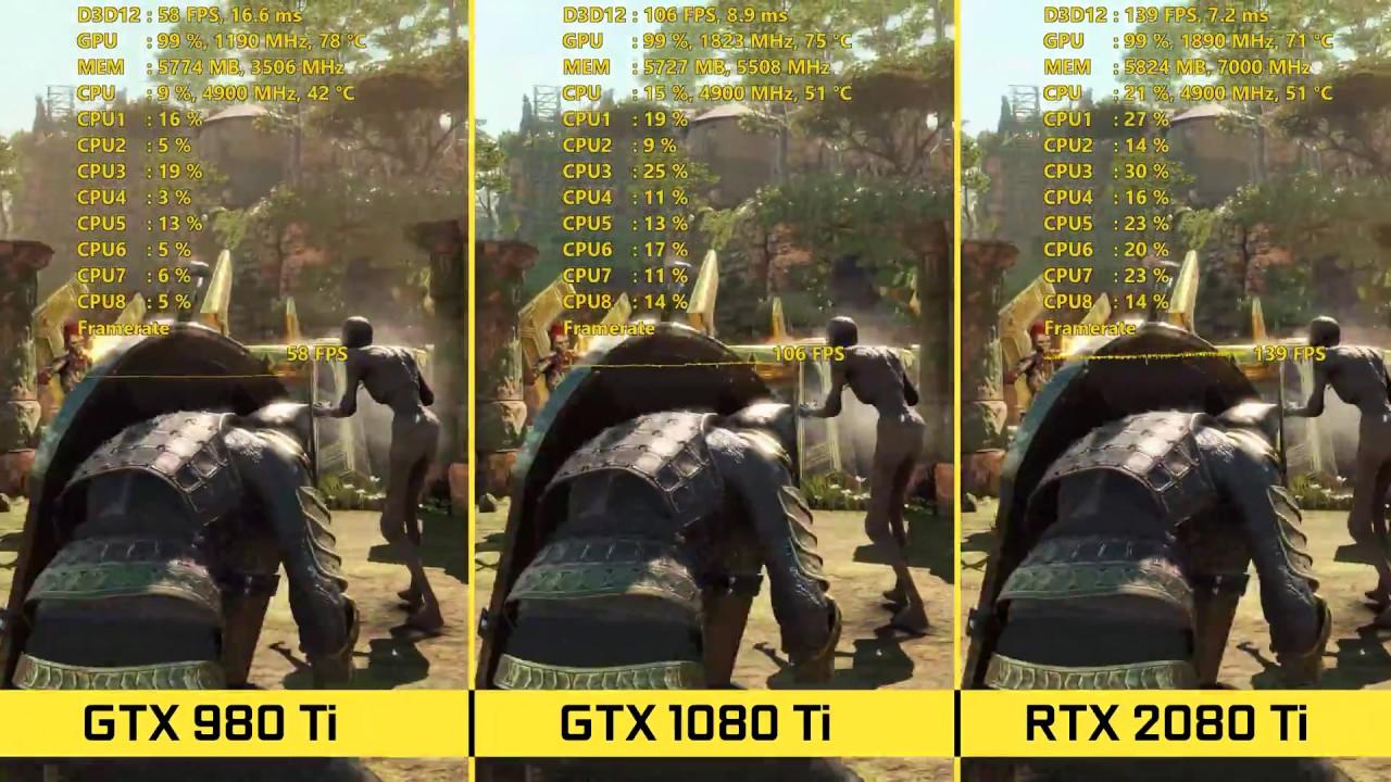 RTX 2080 Ti vs GTX 1080 Ti vs GTX 980 Ti BENCHMARKS 1440p