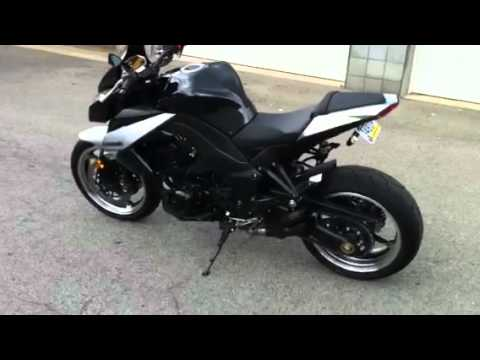 2010 kawasaki z1000 black urban brawler exhaust youtube. Black Bedroom Furniture Sets. Home Design Ideas