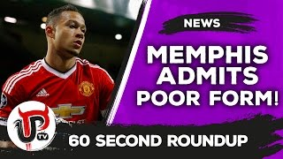 Memphis Depay admits he's struggling! | Man United news | 60 second roundup