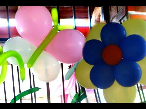 Haz Flores Y Mariposas De Globos Para Un Jardin En Tus Fiestas Youtube