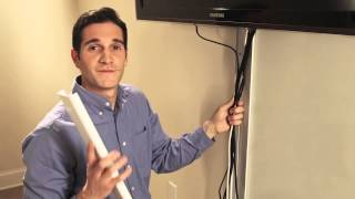 Wiremold: How to hide flat screen TV cables on the wall