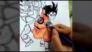 Dragon ball Z characters speed drawing