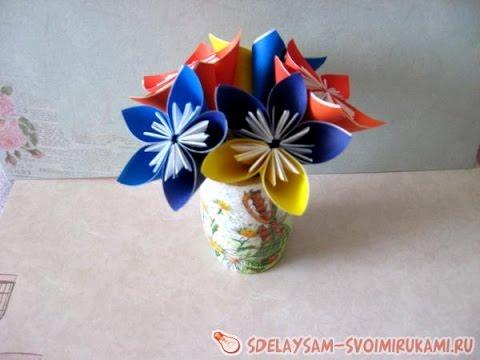 Как сделать цветок из цвет бумаги 542
