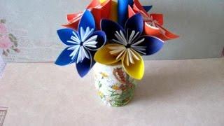 Как сделать цветы из бумаги(Смотрите как сделать цветы из бумаги в технике оригами http://www.sdelaysam-svoimirukami.ru/1855-cvety-iz-bumagi.html цветок из бумаги..., 2015-03-30T09:17:29.000Z)