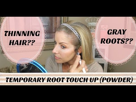 gray-hair?-thinning-hair?-how-to-camouflage-thinning-hair-&-gray-roots-with-touch-up-powder
